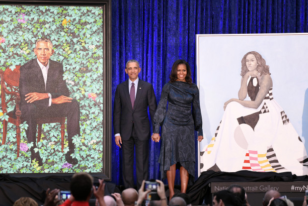 Obama portraits February 13 2018