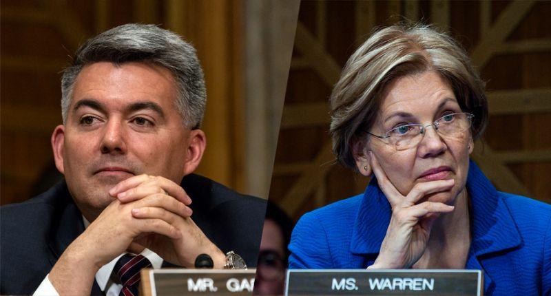 Cory Gardner and Elizabeth Warren June 11 2018