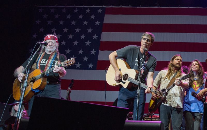 Willie Nelson and Beto O'Rourke September 16 2018