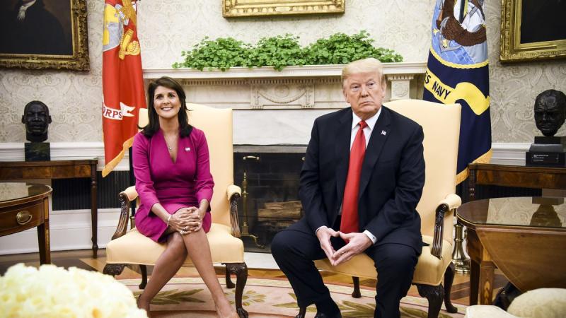 Nikki Haley Donald Trump October 10 2018