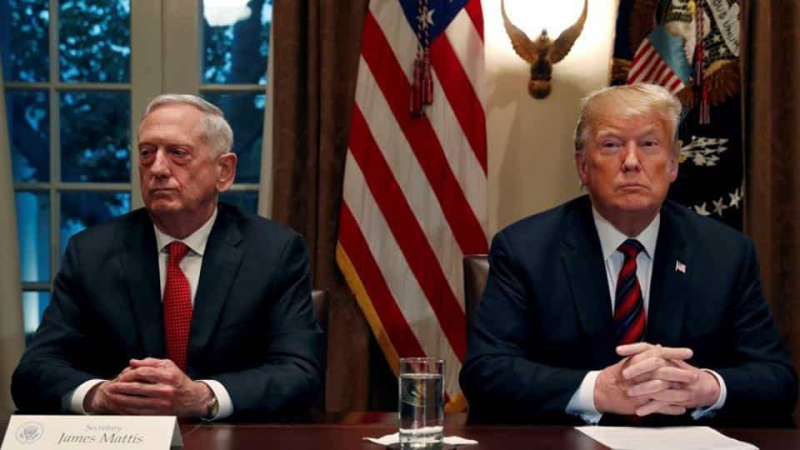 James Mattis Donald Trump December 21 2018