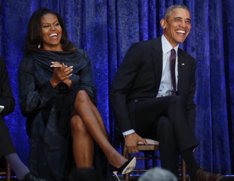 Barack and Michelle Obama December 28 2018