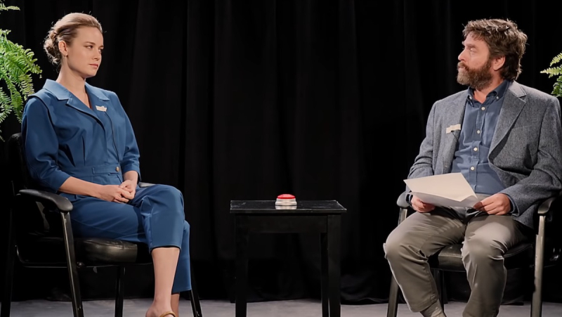 Brie Larson Zach Galifianakis Between Two Ferns September 20 2019