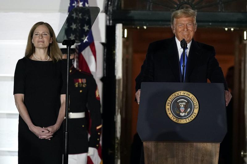 Amy Barrett Coney Donald Trump October 27 2020